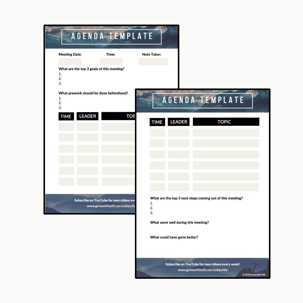 Meeting Agenda Jumpstart Kit