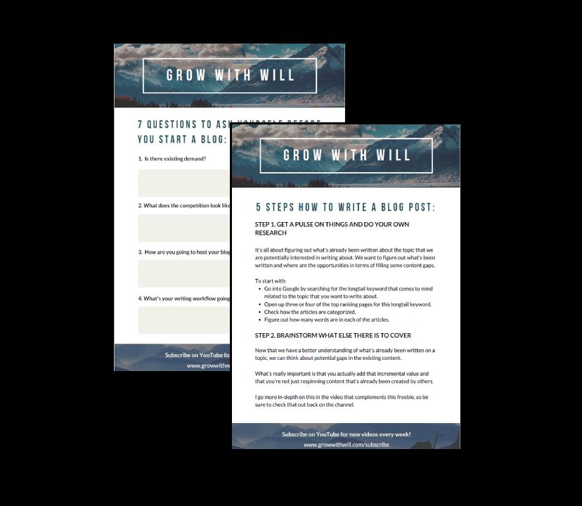 Blogging Jumpstart Kit